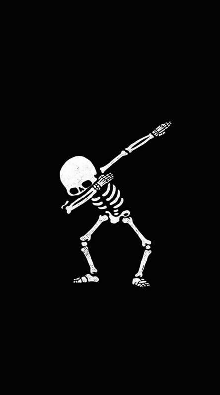 Skeleton black white