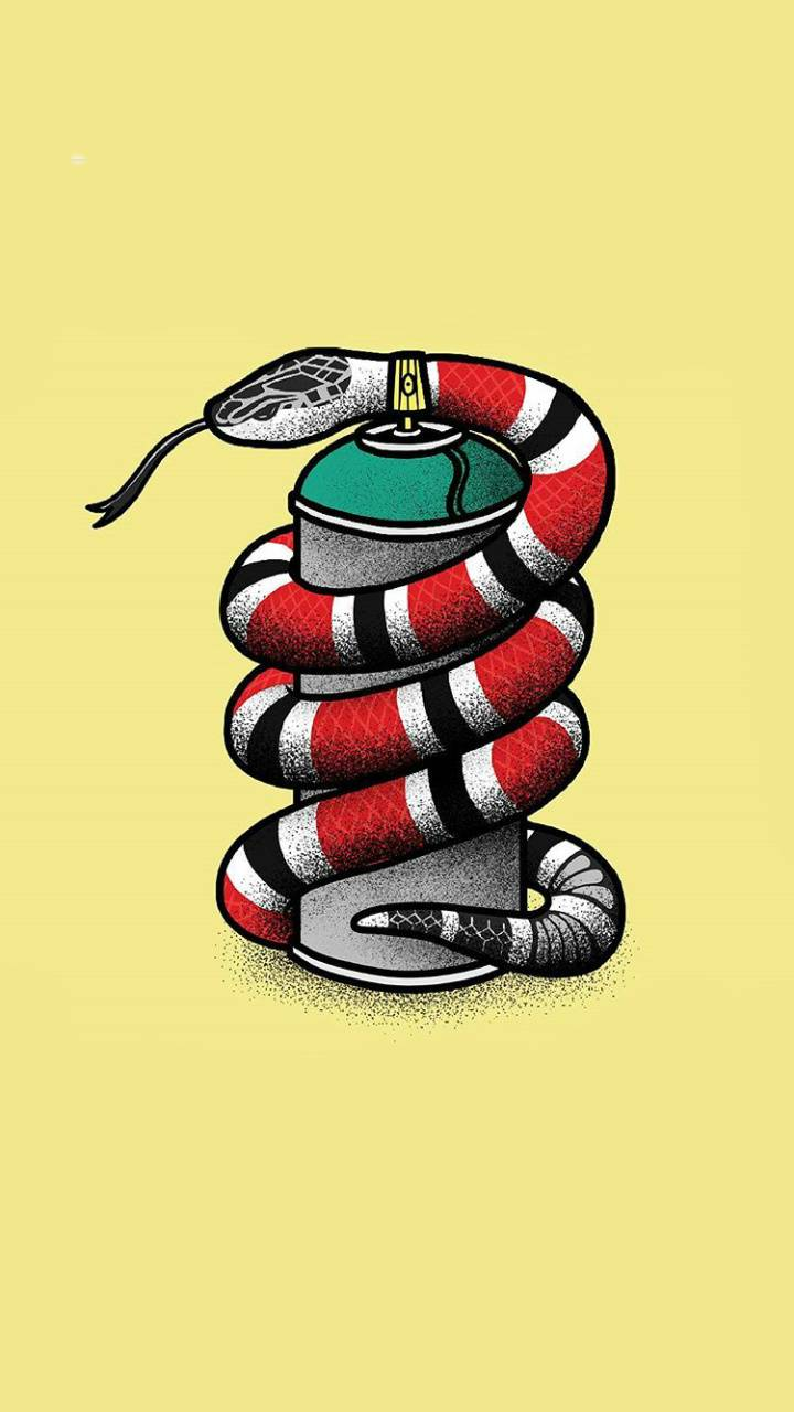 Gucci snake wallpaper by