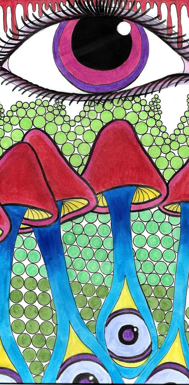 Trippy Eye Mushrooms