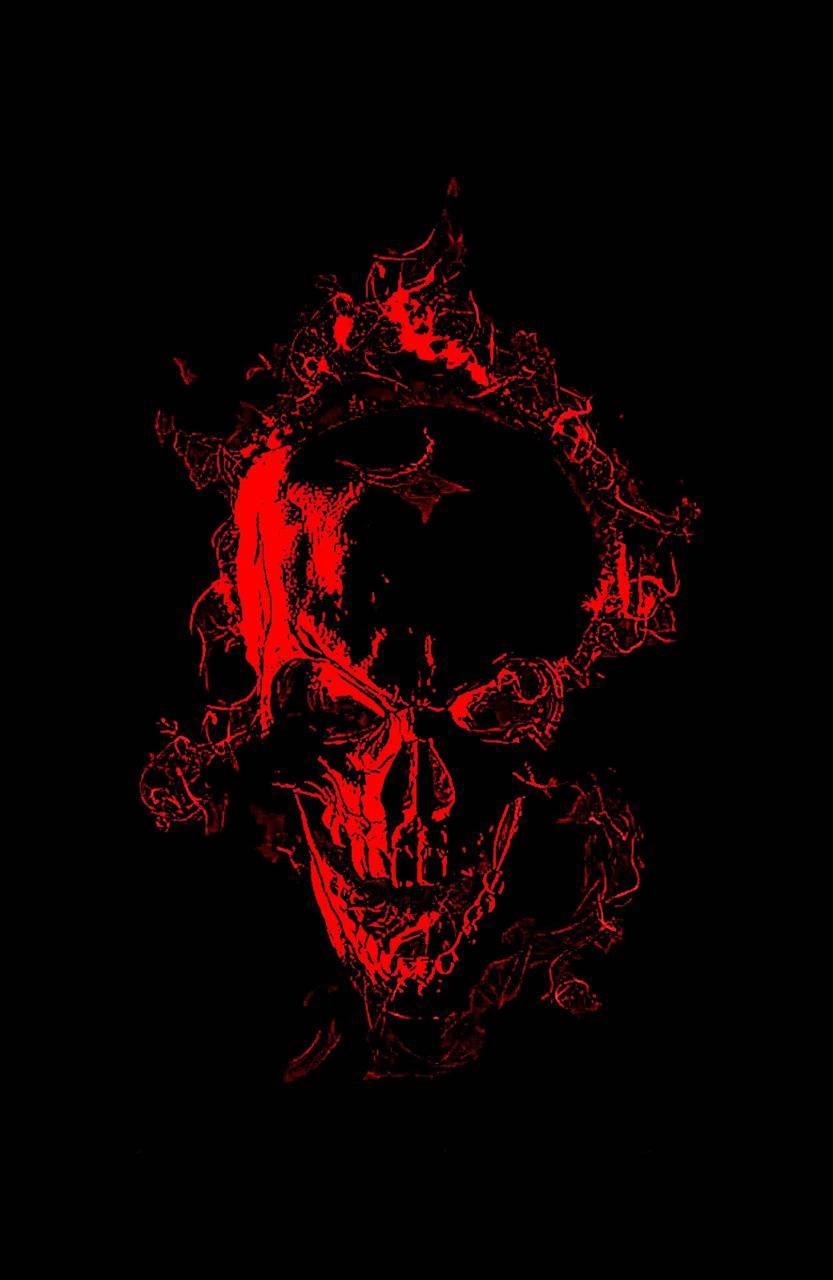 Burning Red Skull wallpaper by
