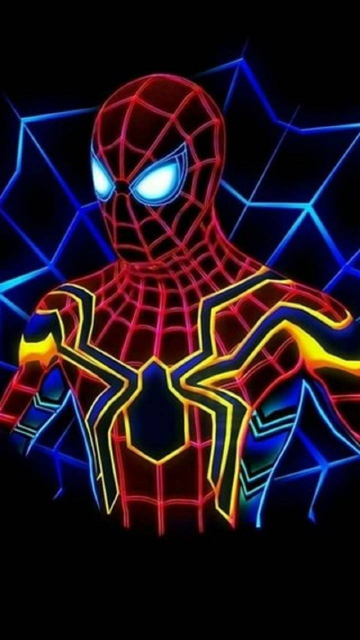 Neon Spiderman
