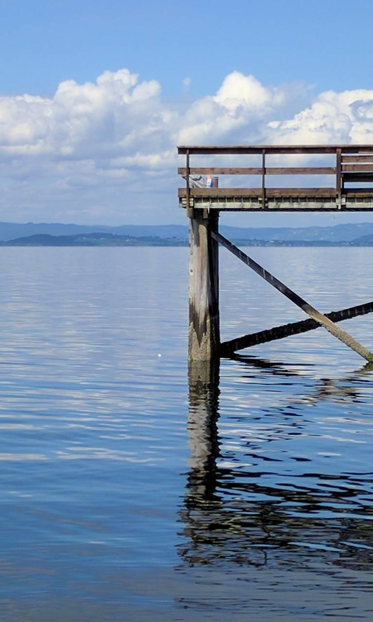 Blue sea shore