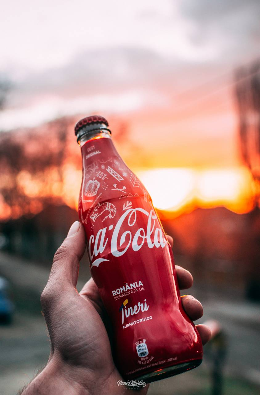 Coca-Cola and Sunset