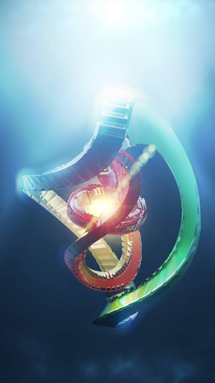 spiral render radian