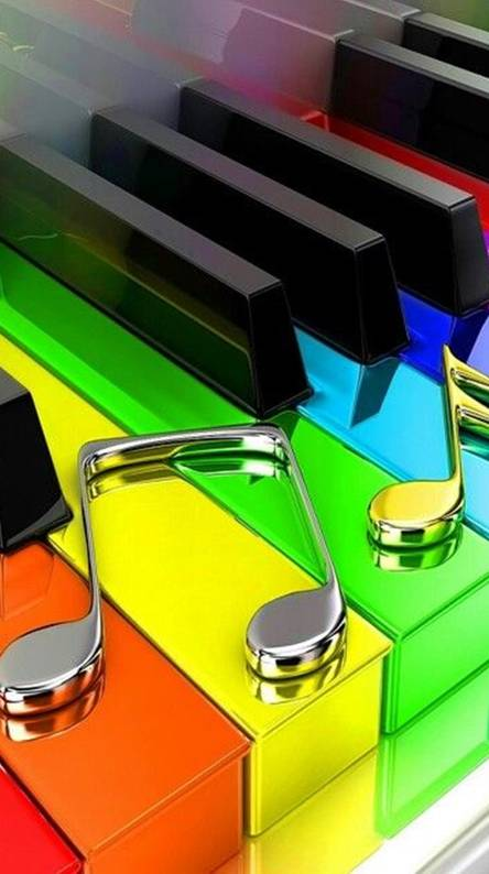 Colorful Piano Wallpapers
