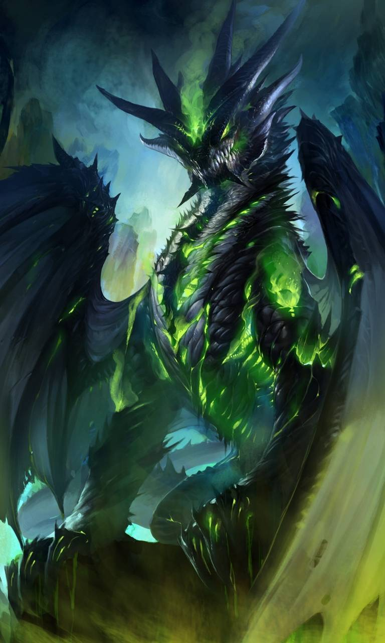 Green fire dragon