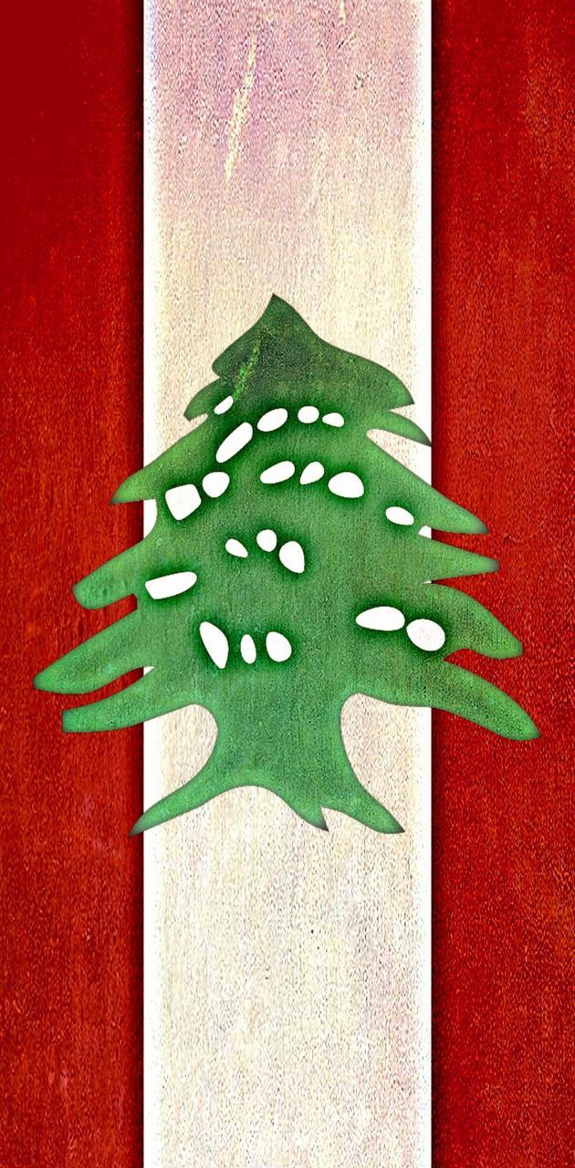 Lebanon Flag vert