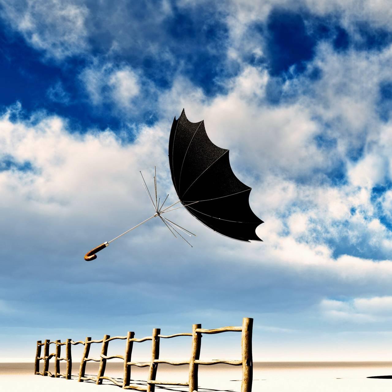 Flying-umbrella