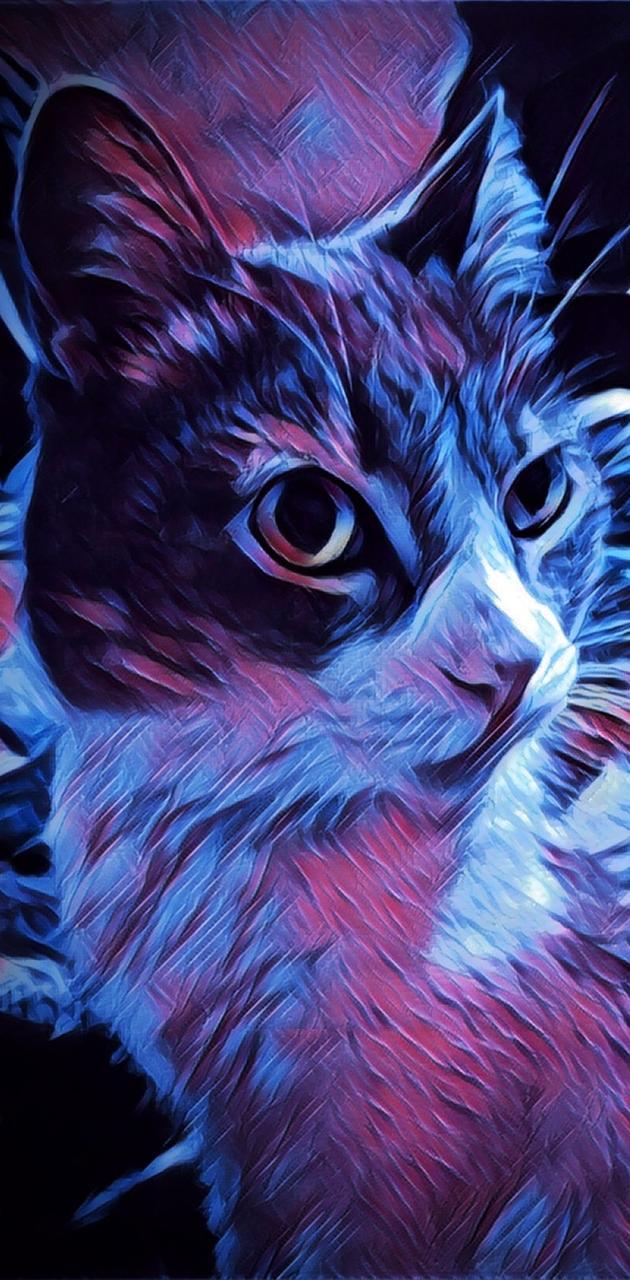 Cat Blue Space