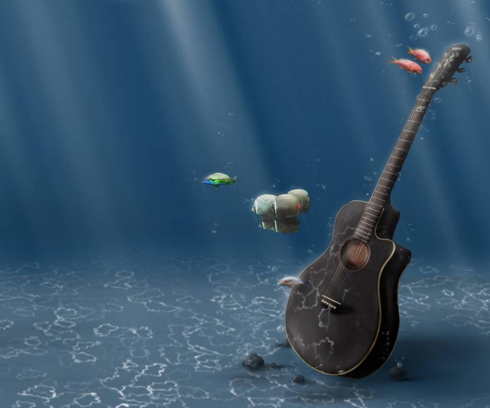 Aqua Guitar