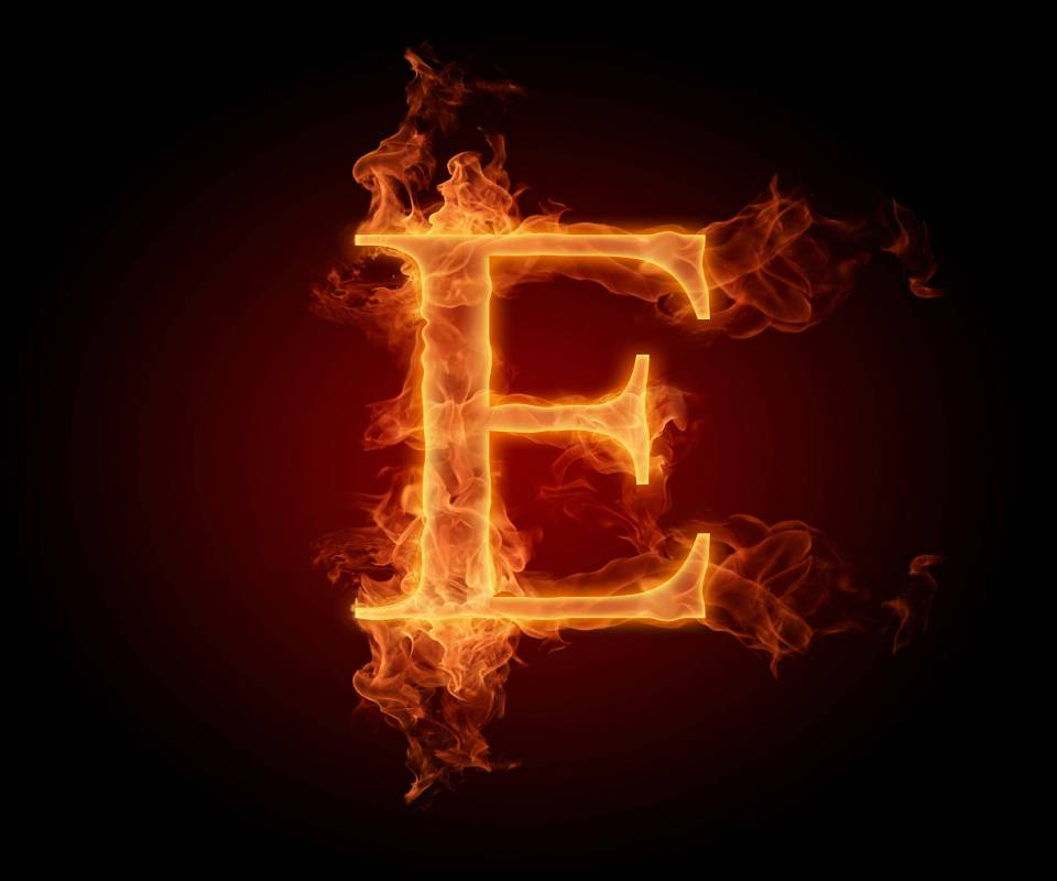 Alphabet Letter E Wallpaper By Timlewisartist