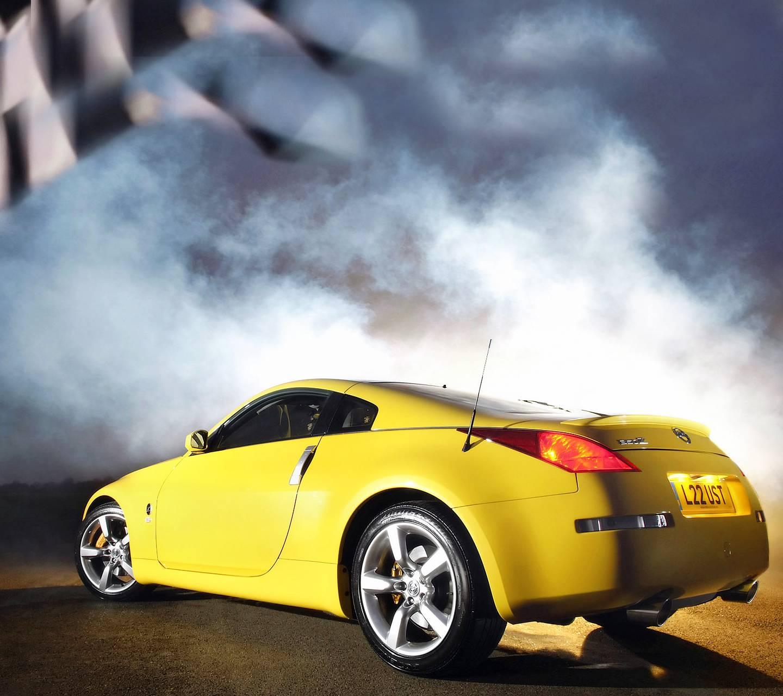Yellow Nissan