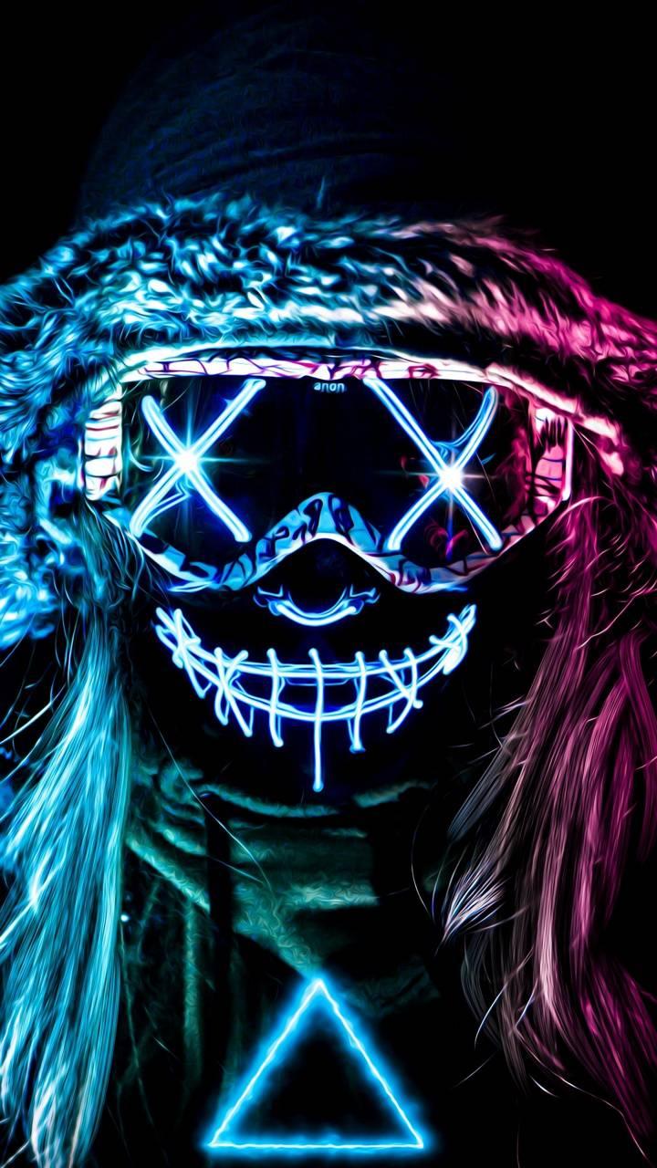 Neon Mask Girl wallpaper by AmazingWalls - 36 - Free on ZEDGE™