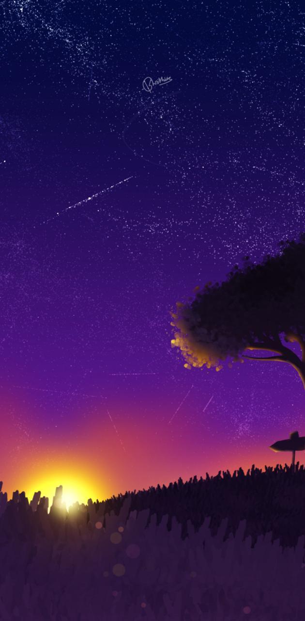 Night Anime Sky
