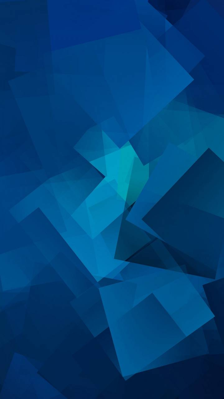 Blue Geometic Cubes