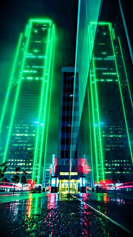Neon Sky Scraper