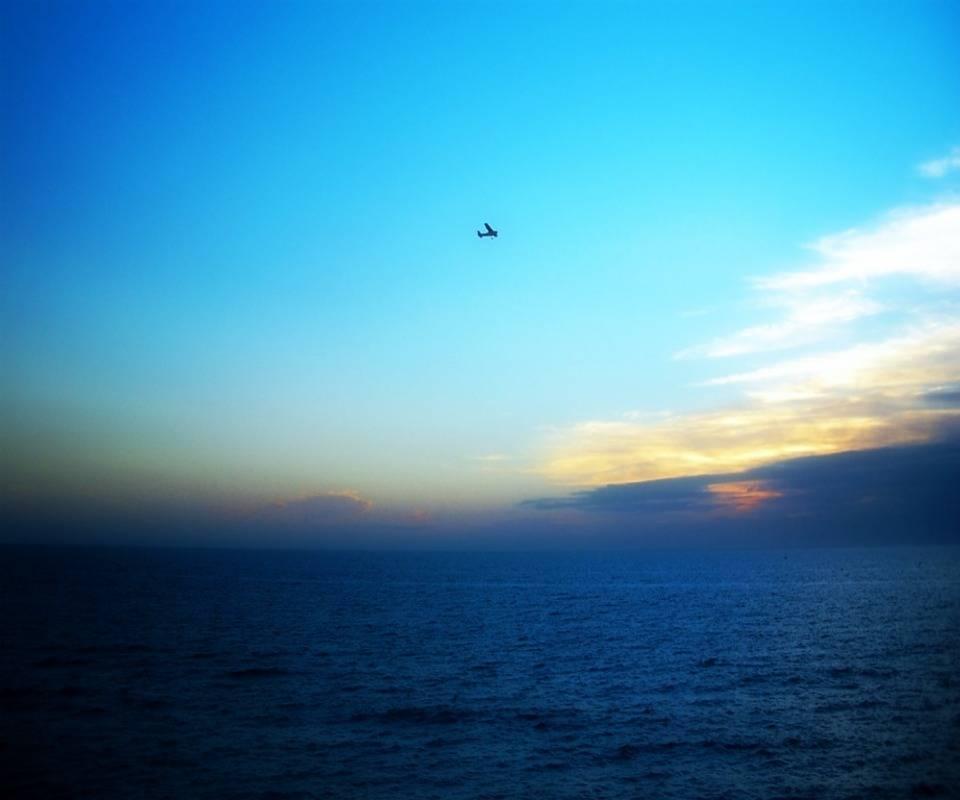 Plane Over Sea