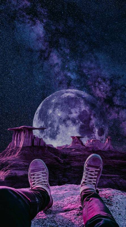 Purple Galaxy Wallpapers Free By Zedge
