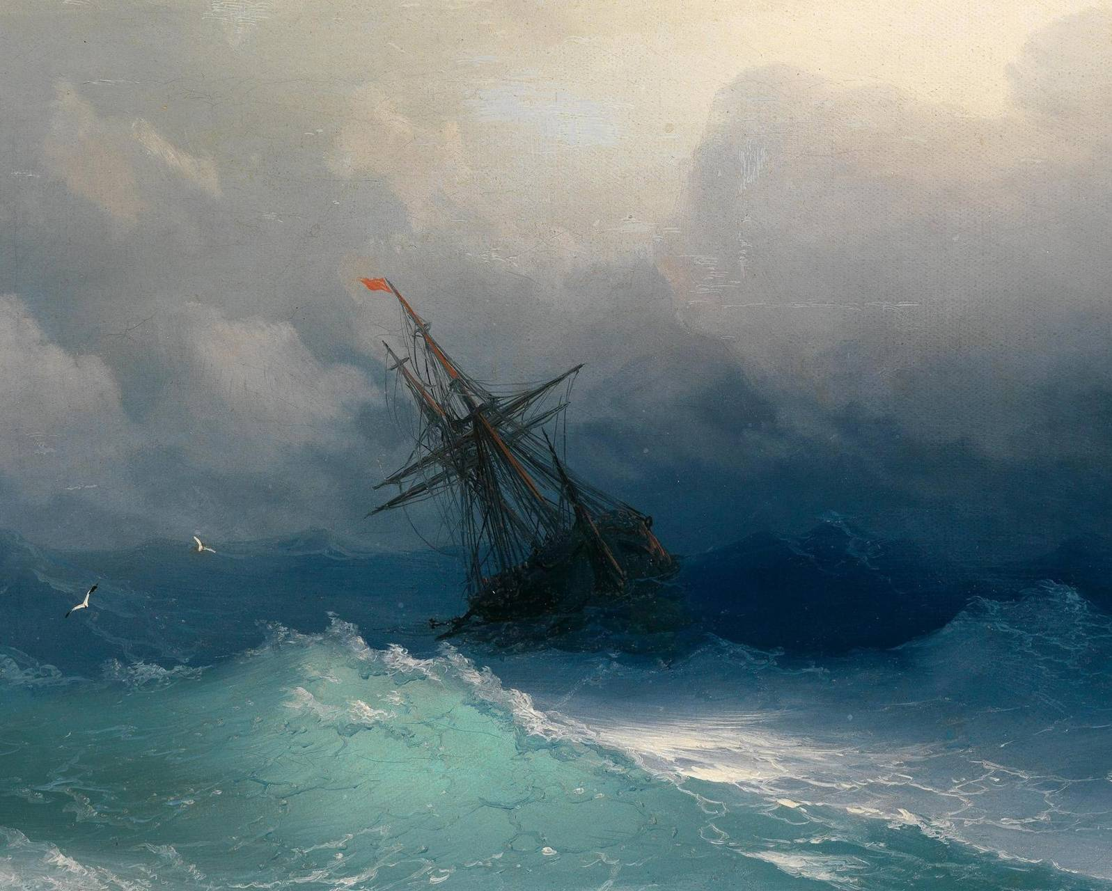 Painted Windy Ocean