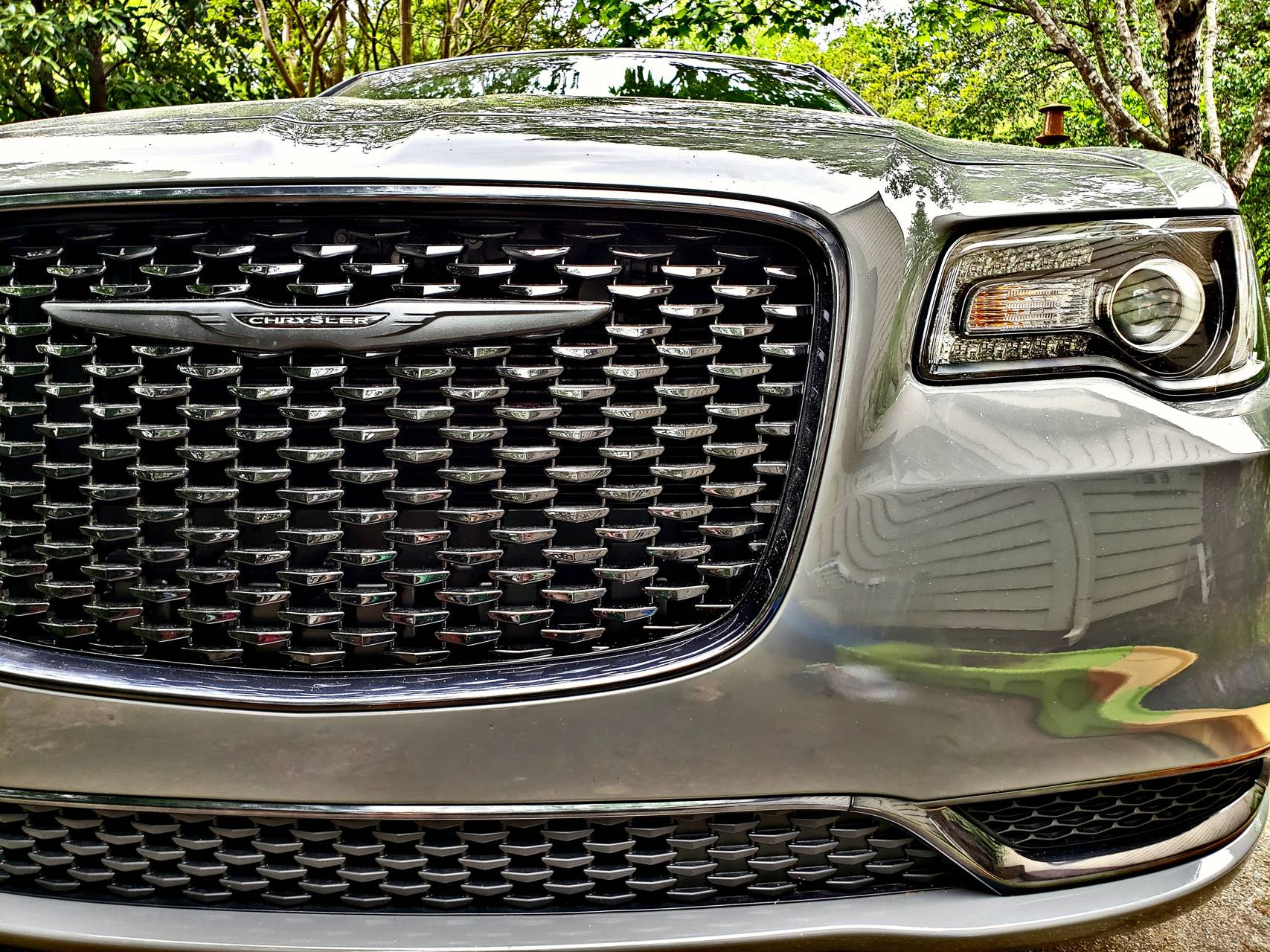 Blacked out grille