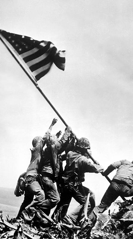 Iwo Jima. Flag Raising
