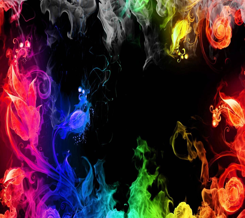 rainbow smoke wallpapersamantha80 - df - free on zedge™