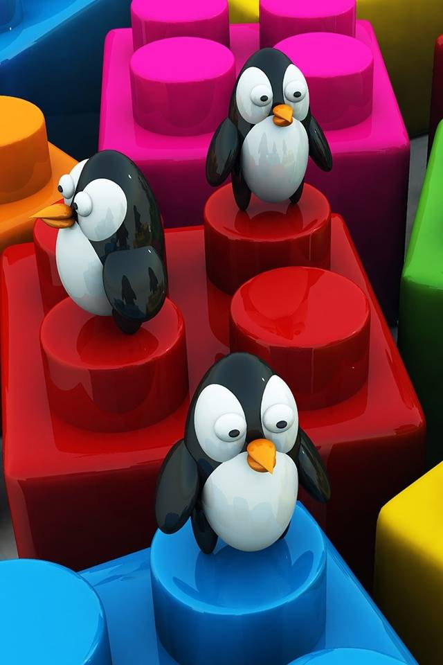 3d Penguins