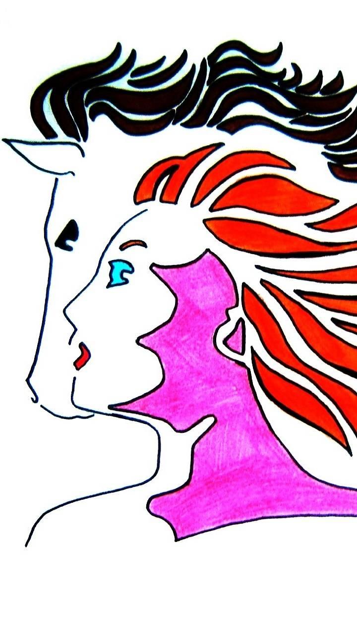 Horse Girl Art