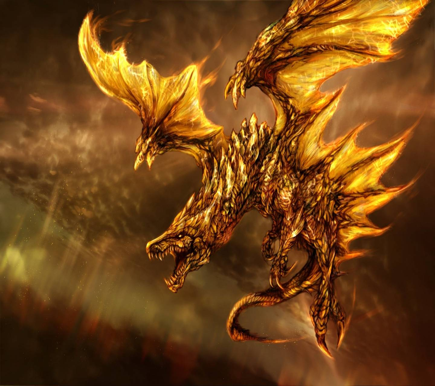 Gold Dragon Wallpaper By Ms Mel Zedge Free Your Phone