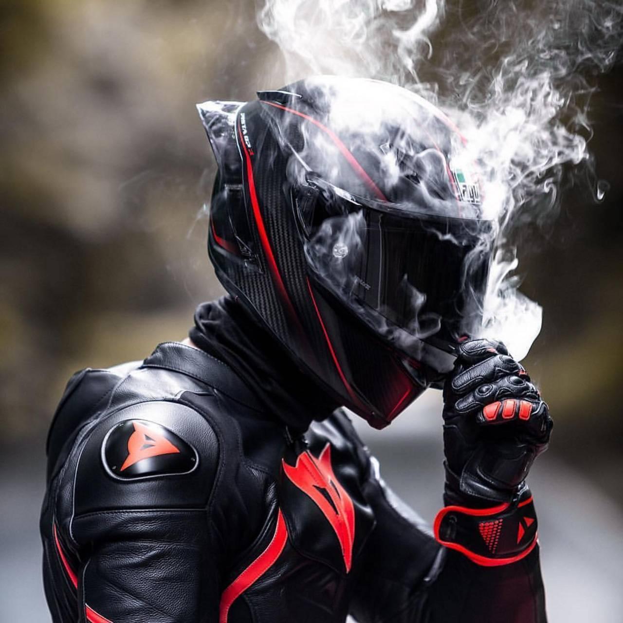 Biker smoker