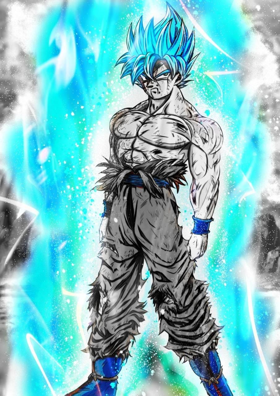 Goku ssj blue black