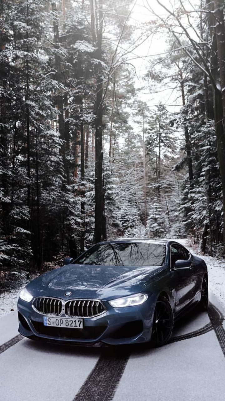 Iphone Bmw Snow Wallpaper
