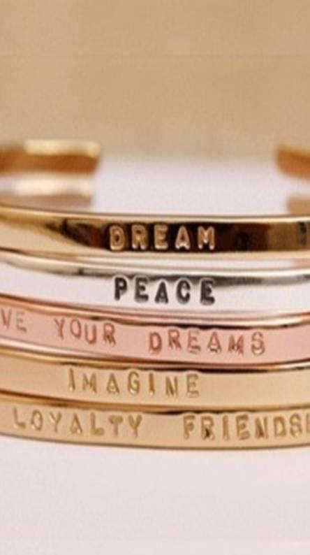 Quote Bracelet