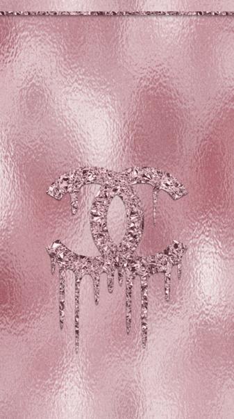Chanel logo pink