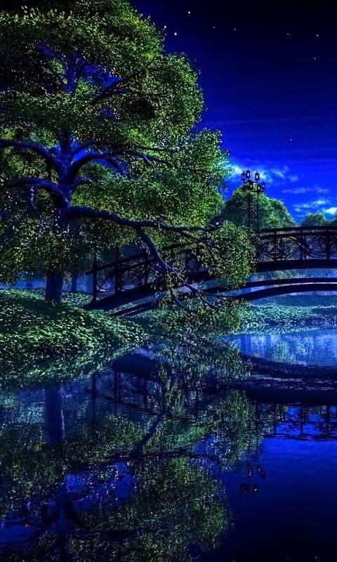 Blue Night River