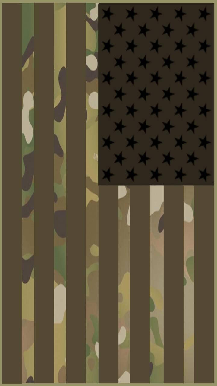 Camo US Flag