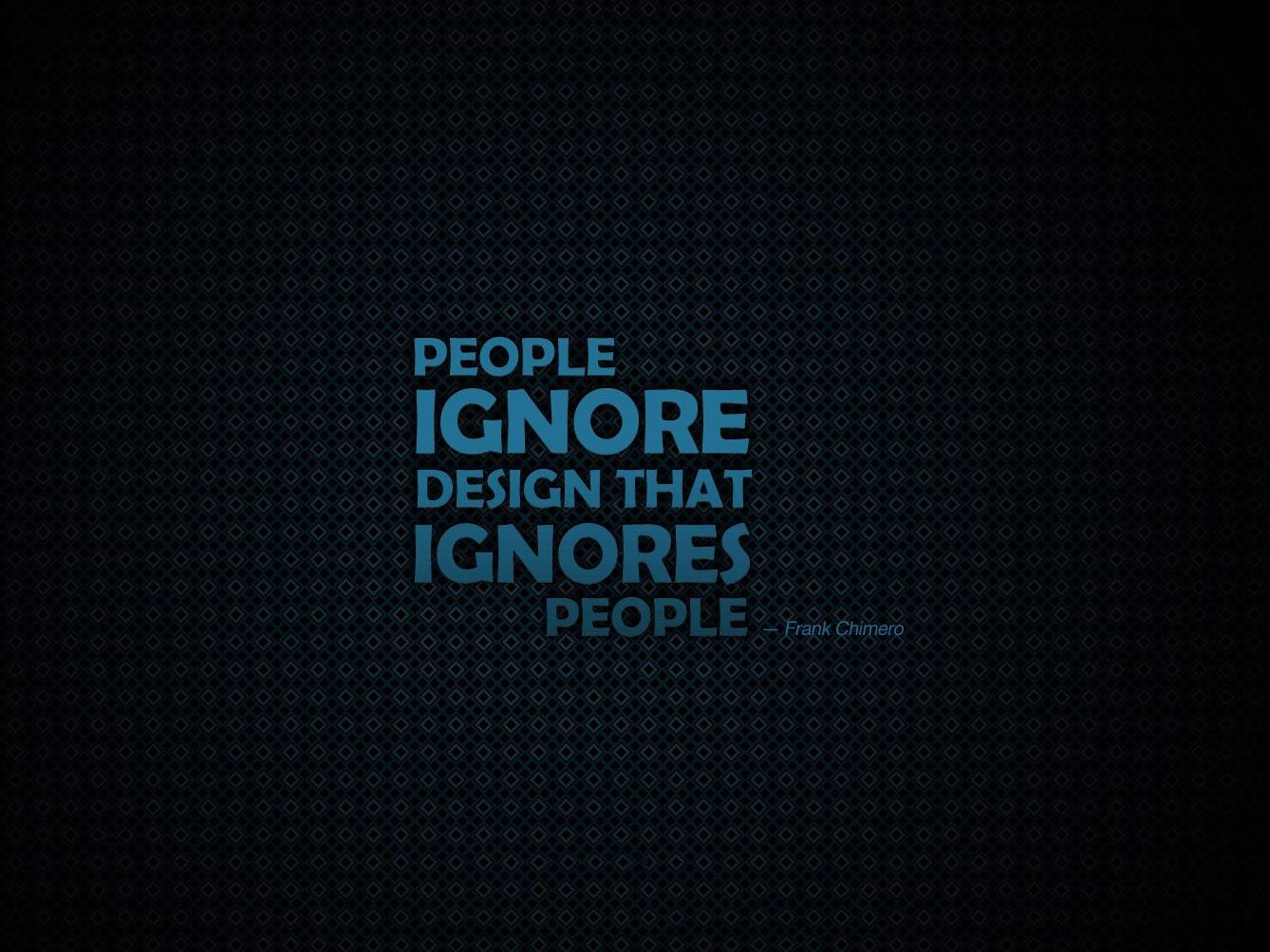 People Ignore