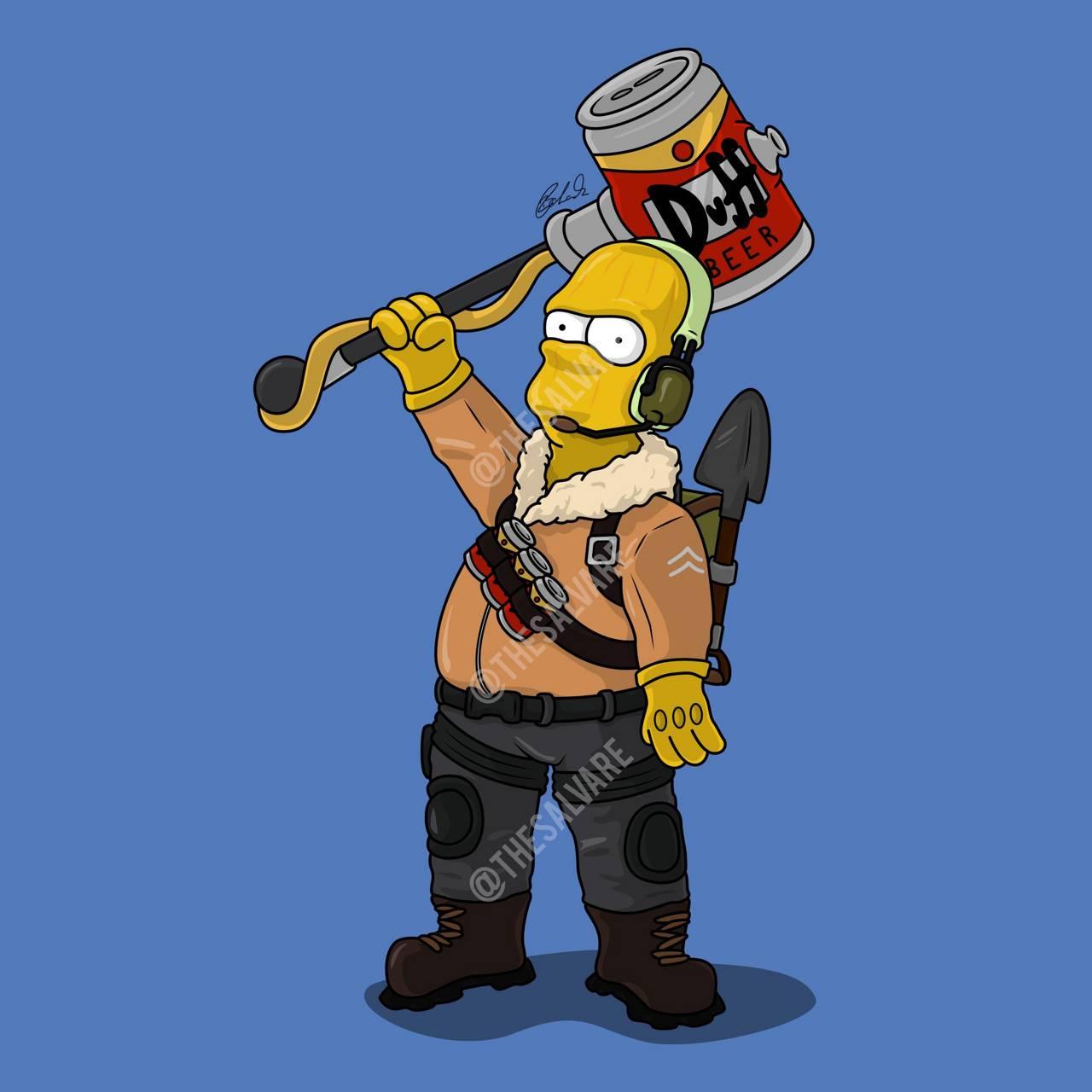 Homer Simpson Raptor