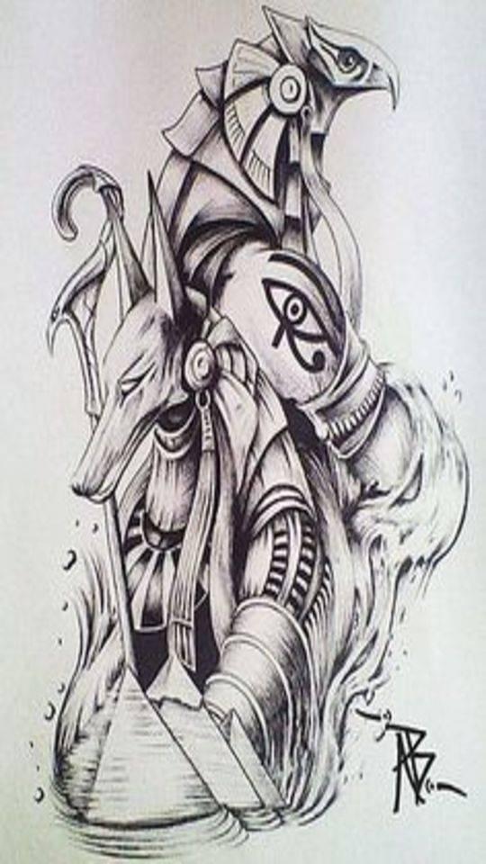 Horus And Anubis Wallpaper By Mathu091190 5huxuzks5myam