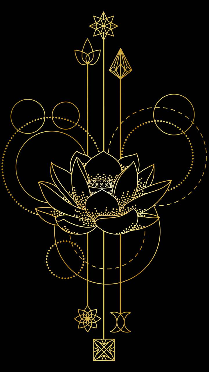 Golden Lotus Wallpaper By Sixty Days 7f Free On Zedge