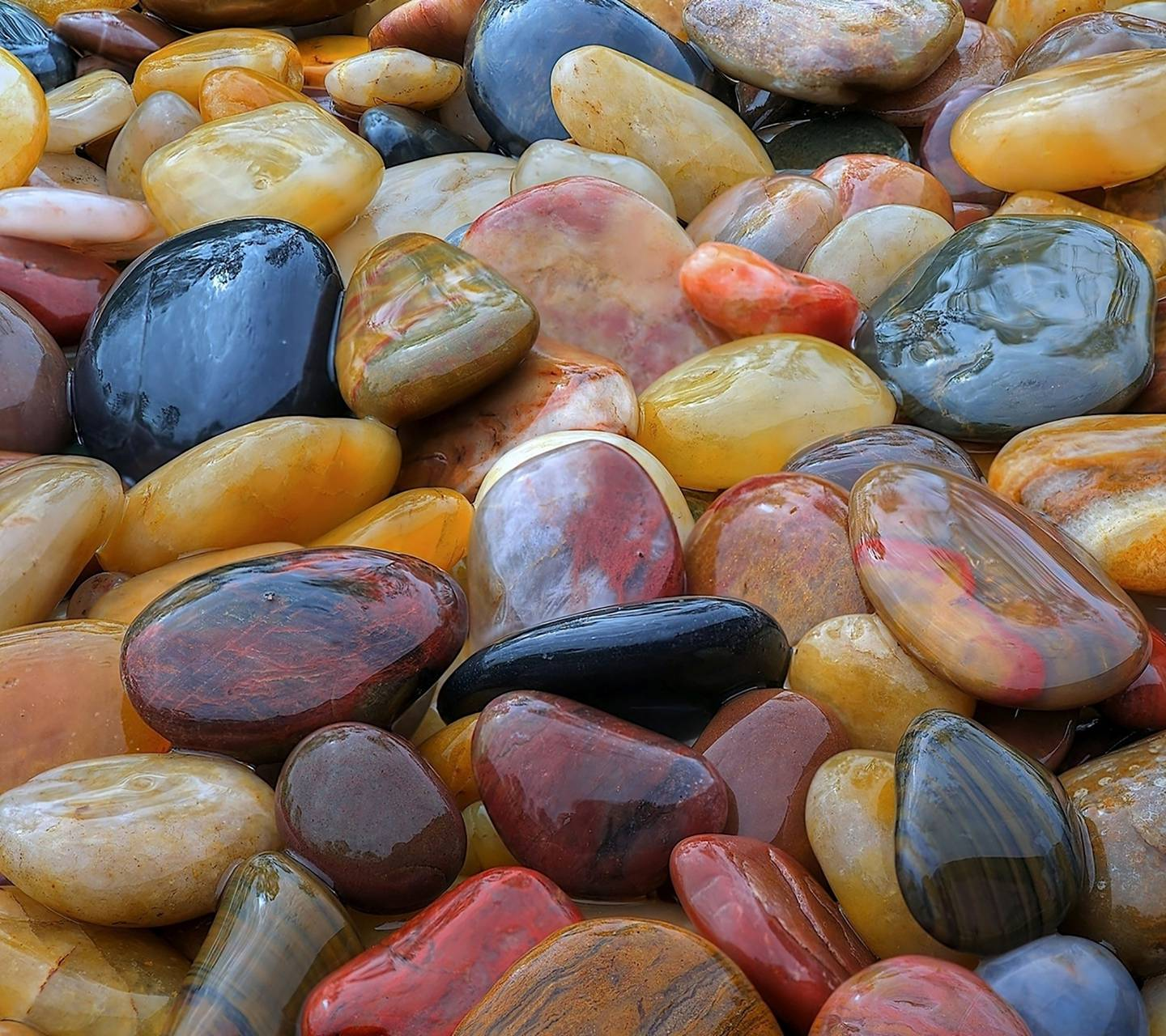 shiny pebbles