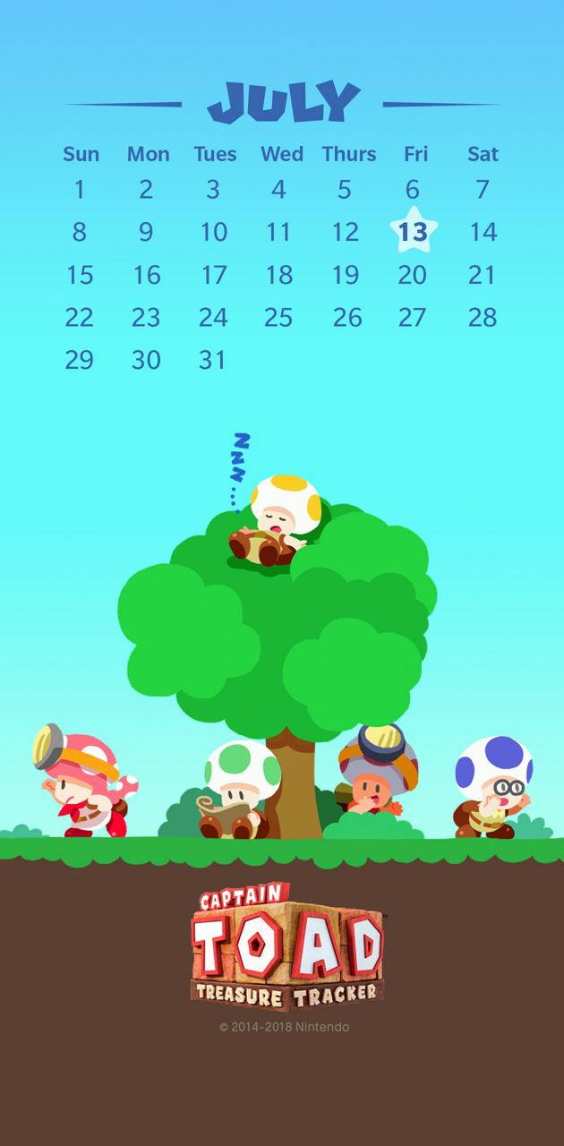 CaptainToad Calendar