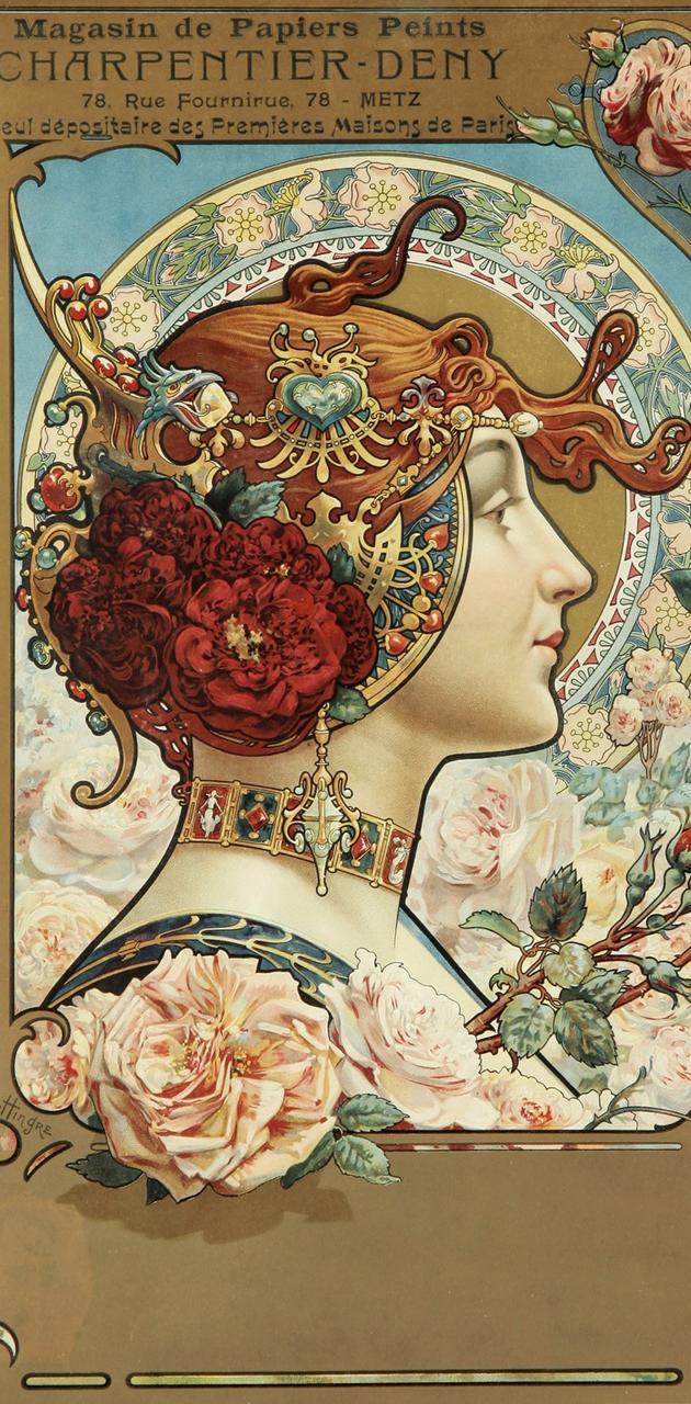 Art Nouveau Maiden