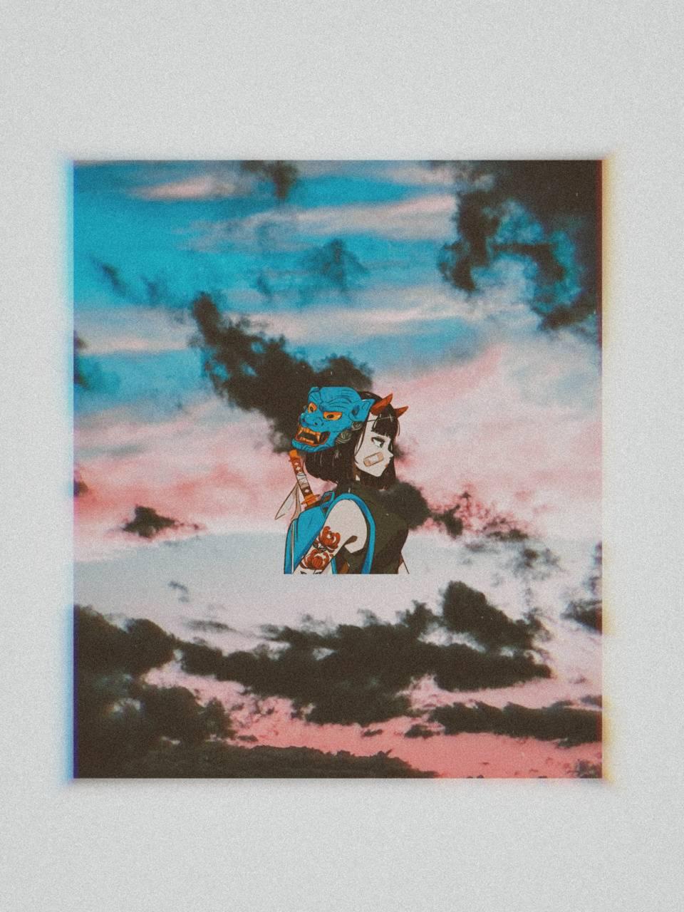 Girl and sky