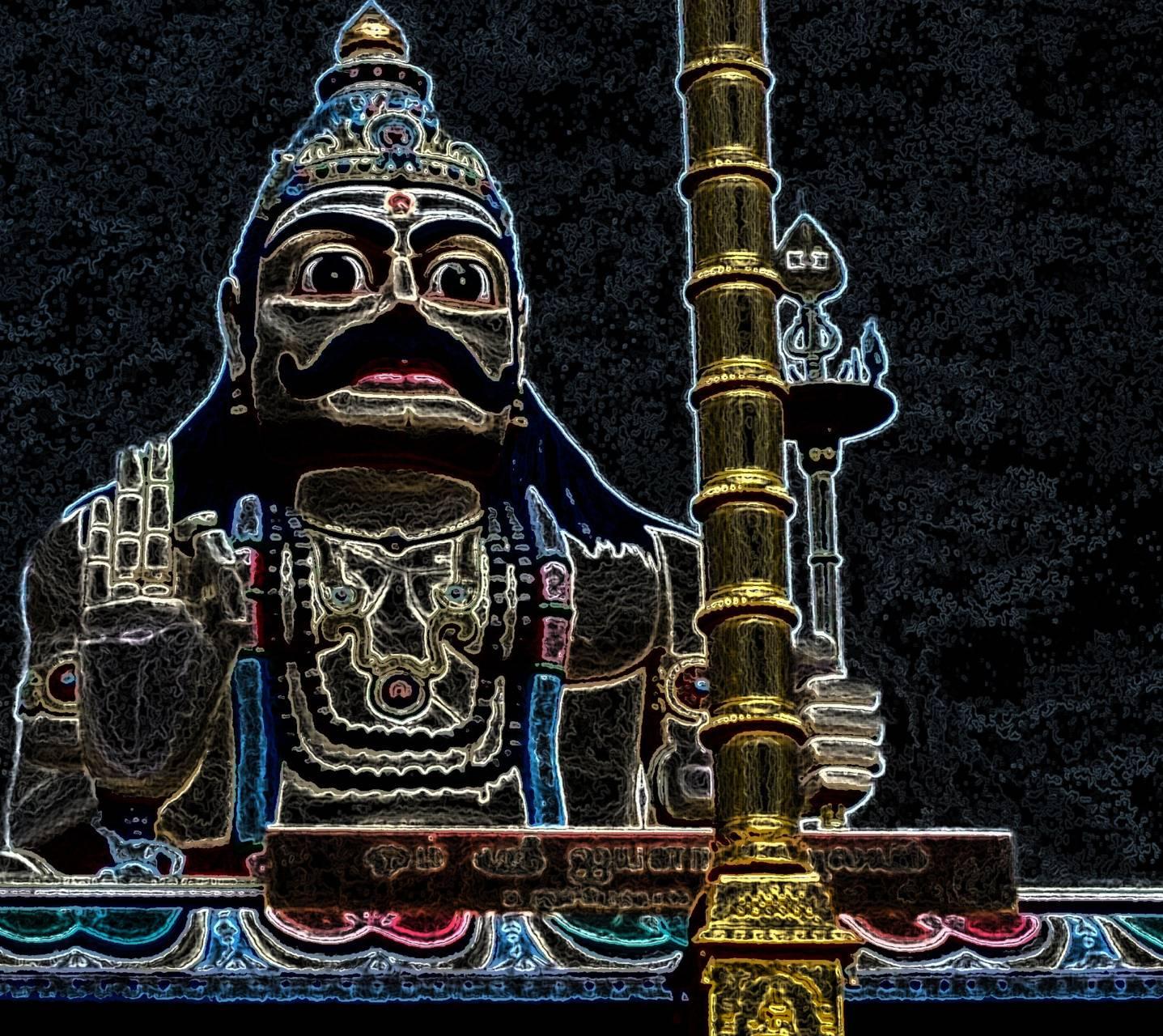 Lord Ayyanar neon