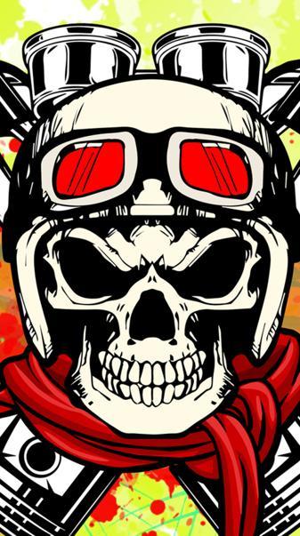 Motorbike skull