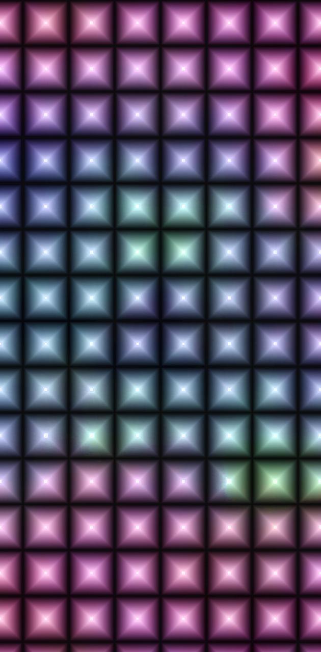 Metal squares red
