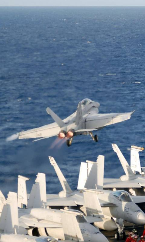 F-18 Carrier Takeoff