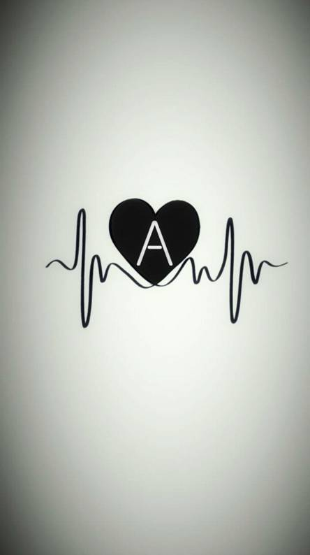 A letter heart