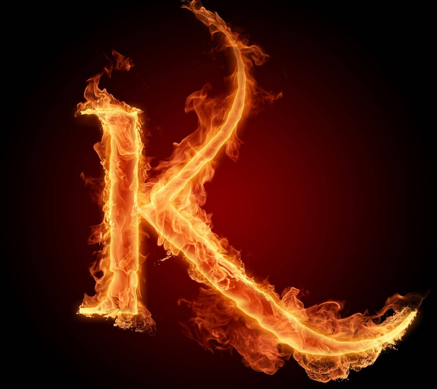 Letter k in fire hd wallpaper by mrlazy 8c free on zedge letter k in fire hd thecheapjerseys Image collections